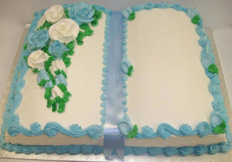 Bible Birthday Cakes http://patisserievimont.ca/products/baptism-and-communion-cakesbirthday-cakes/